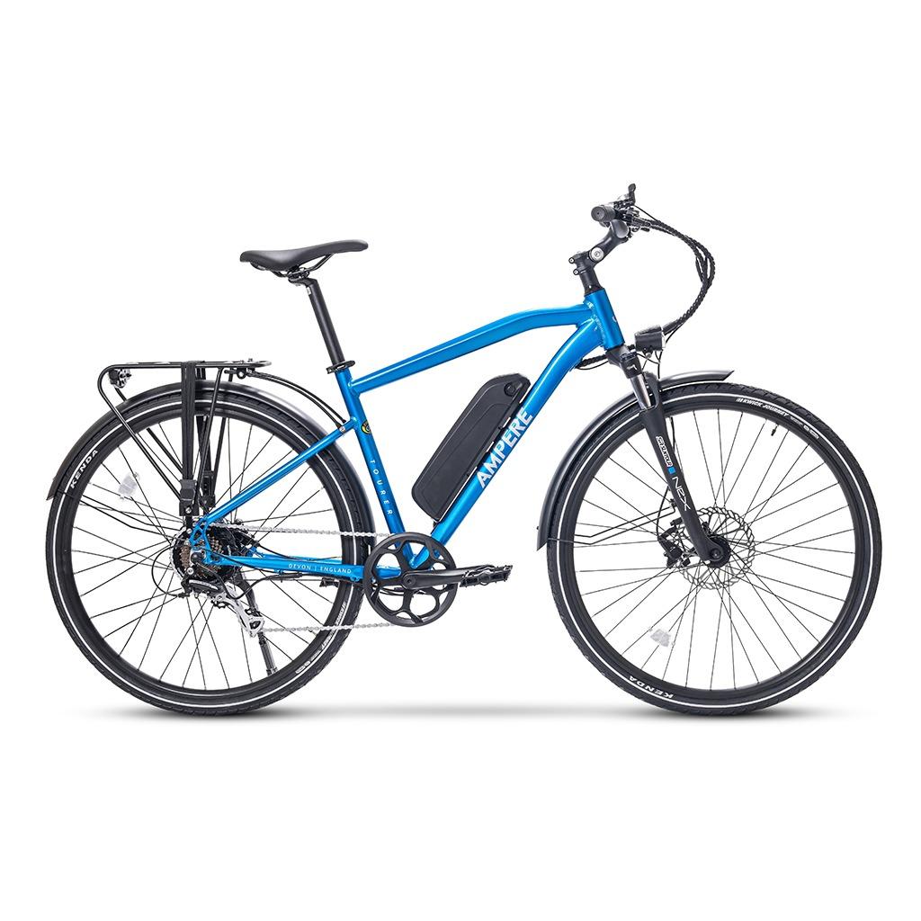 ampere tourer blue crossbar e-bike