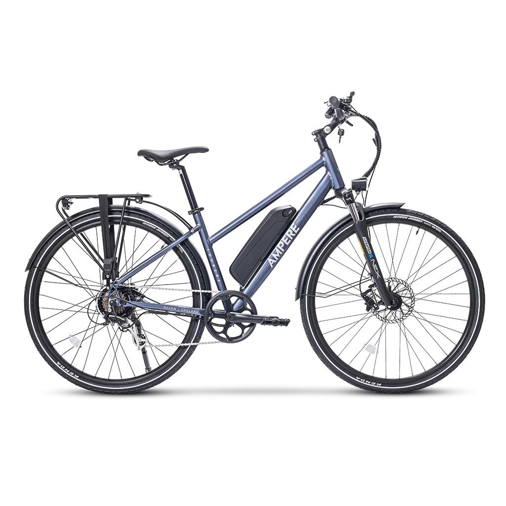 ampere stone blue tourer-s hybrid bike