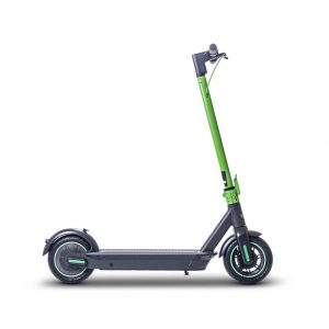 grey and green ampere go electric scooter